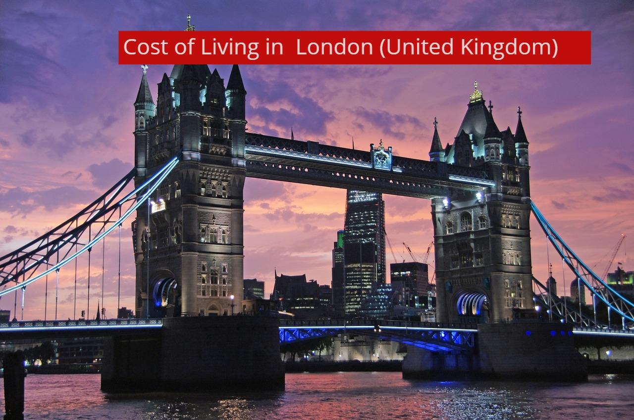 COST OF LIVING IN LONDON-UTTD